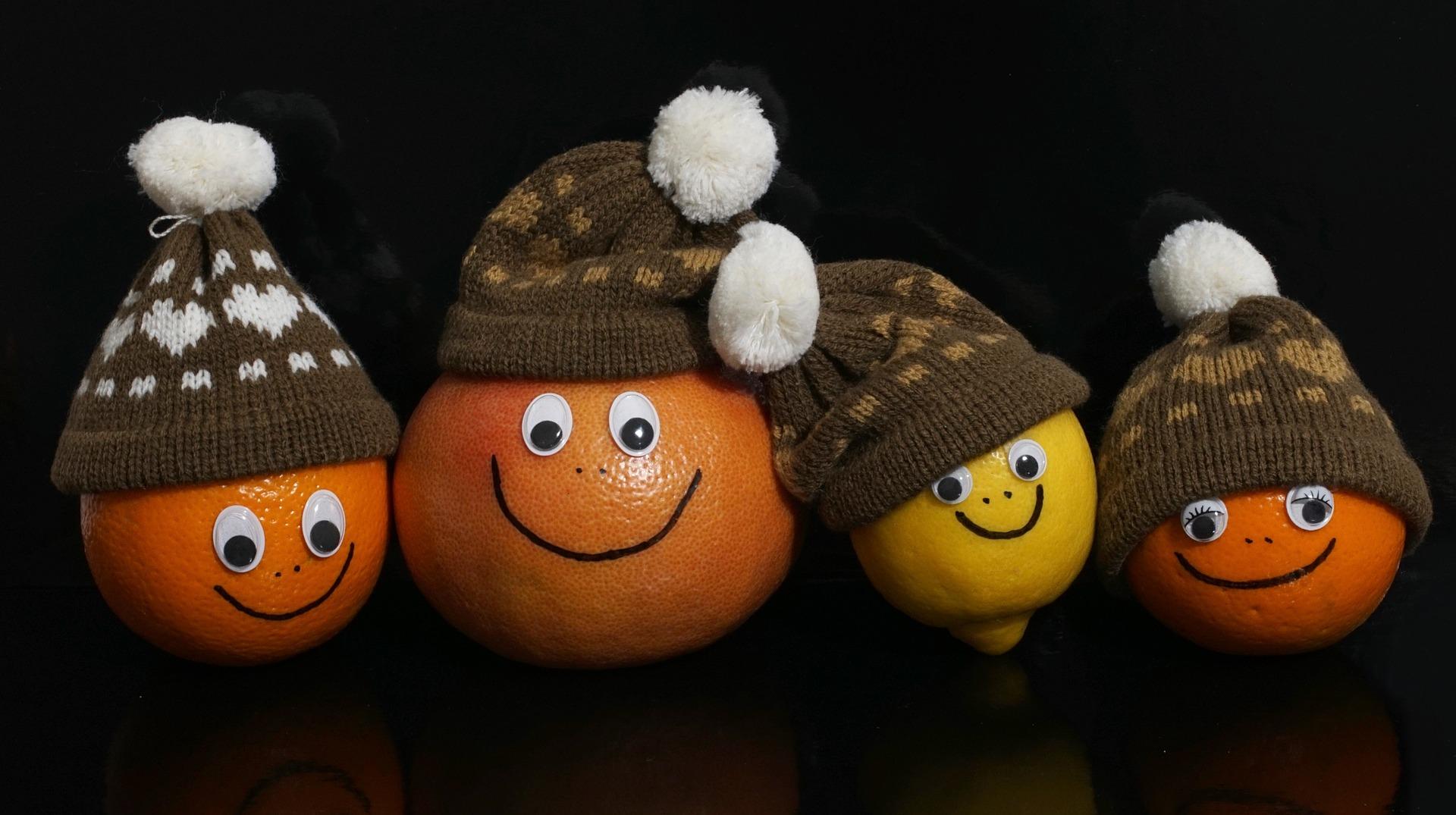 fruits lemon orange